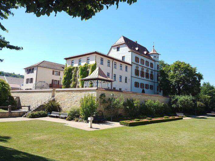 Blick auf das Stadtschloss von Treuchtlingen