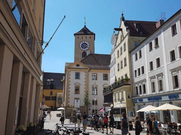 Gassen im Zentrum von Regensburg