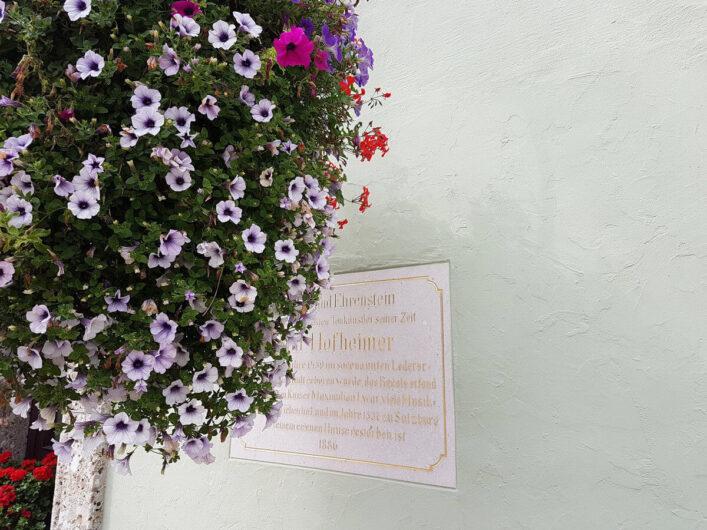 Petunien vor einem Haus in Radstadt