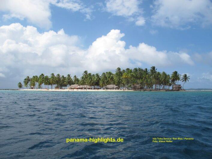 Blick auf San Blas in Panama