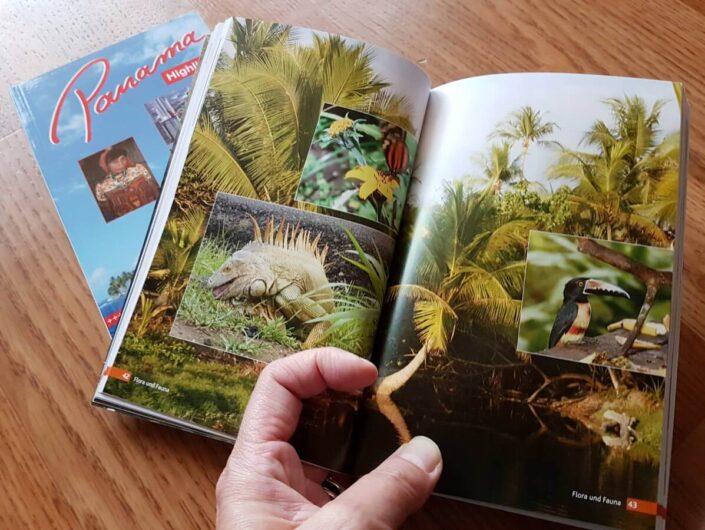 Durchblättern des Reiseführers Costa Rica Highlights