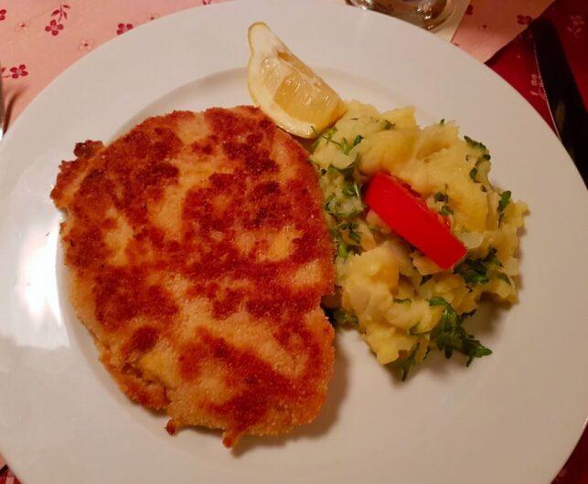 Cordon Bleu mit Kartoffelsalat