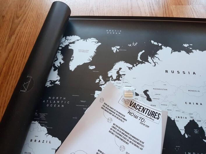 magnetische Weltkarte mit Erläuterungen