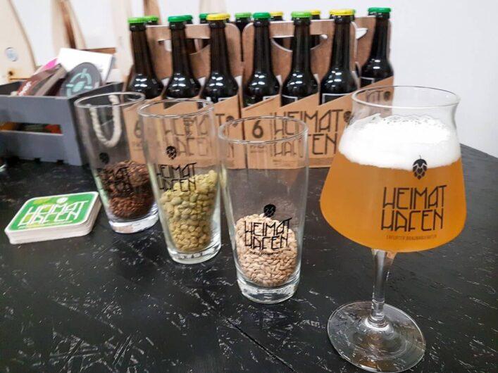 Bierauswahl der Heimathafen Biermanufaktur Erfurt