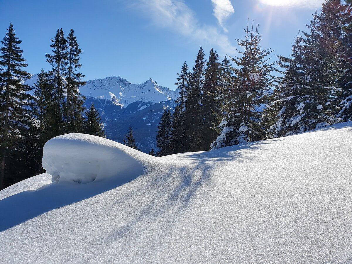 Schneelandschaft im Familienskigebiet Serfaus Fiss Ladis