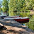 Ruderboote am Neuen See im Tiergarten Berlin
