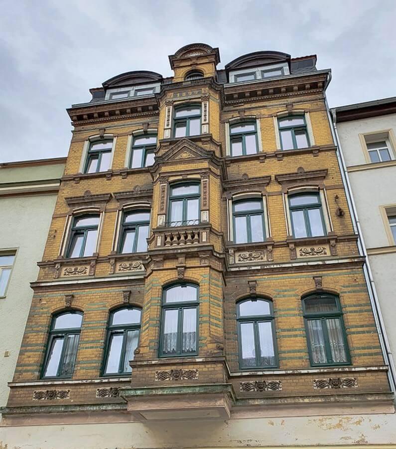 schmucke Fassade in Weißenfels