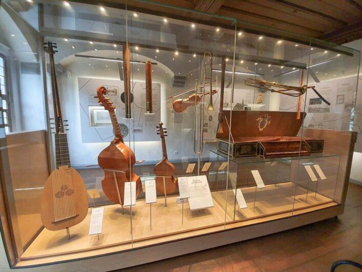 Instrumente im Heinrich-Schütz-Haus Weißenfels