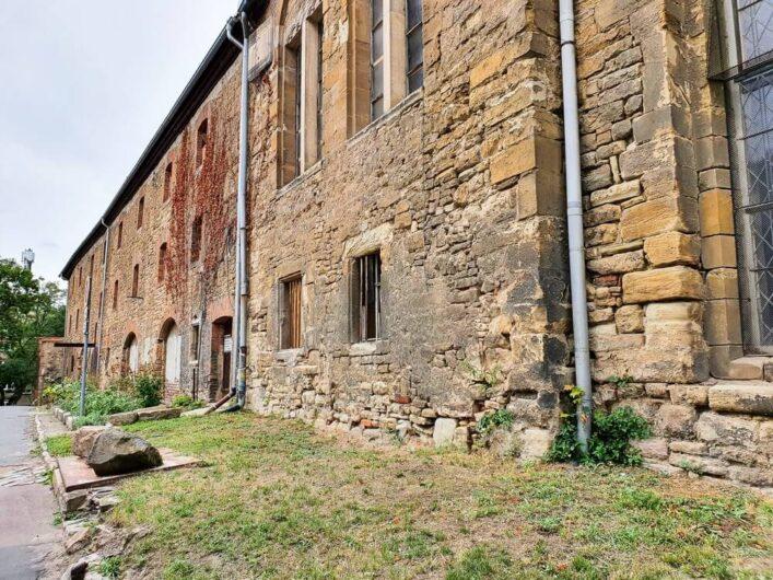 Blick auf das Petrikloster Merseburg