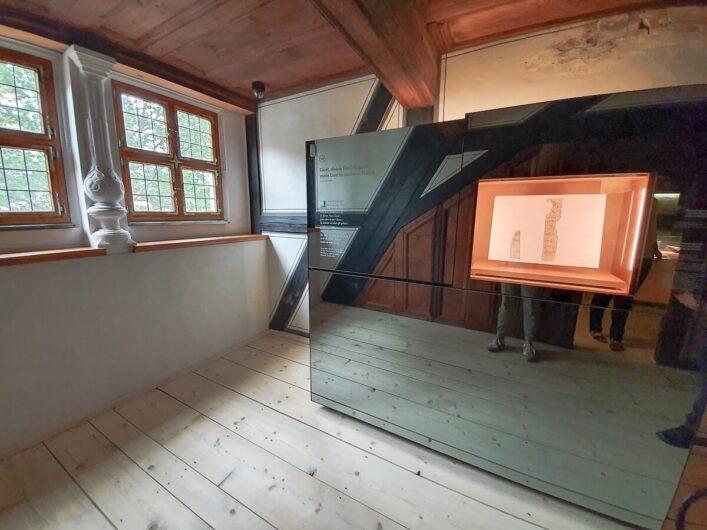 Blick in die Komponierstube des Heinrich-Schütz-Haus