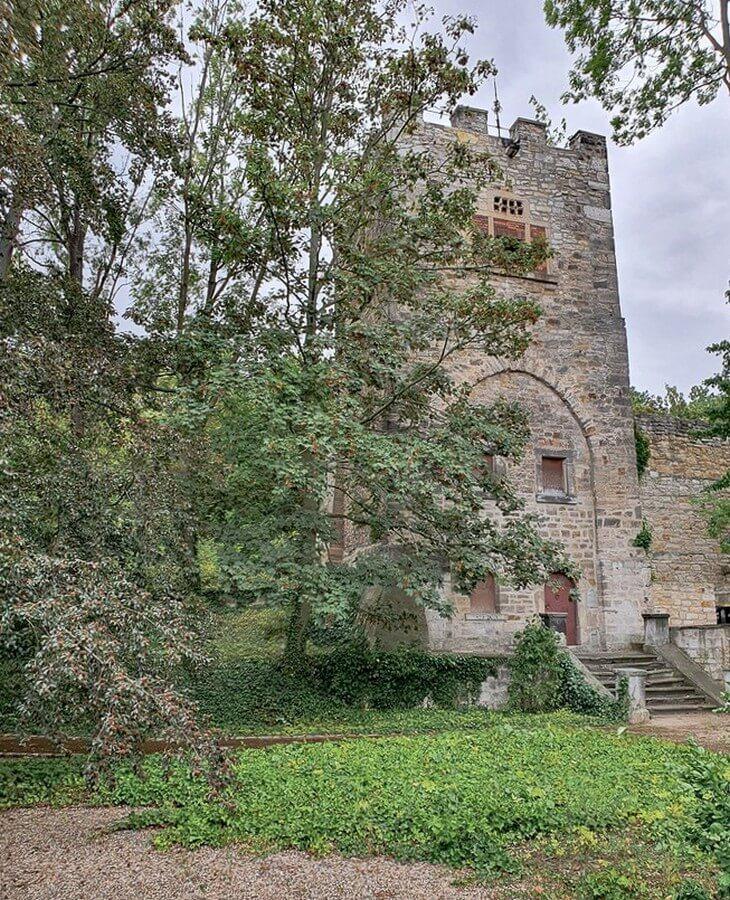 der Pulverturm auf dem Georgenberg in Weissenfels