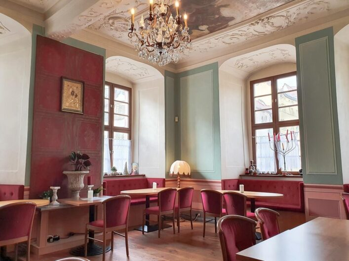 Gastraum des Ristorante Castello in der Residenzstadt Weißenfels