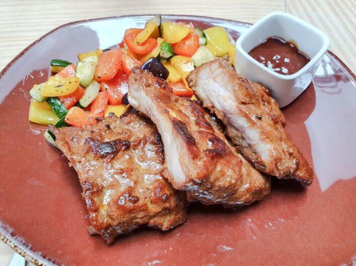 Spareribs im AZado Steakrestaurant in der Residenzstadt Merseburg