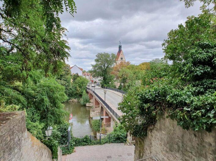 Blick über die Saale in Merseburg