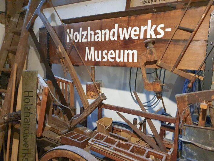 Schild des Holzhandwerksmuseums