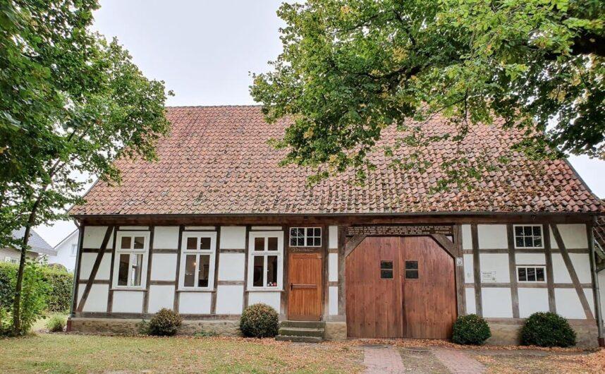 Fachwerkhaus in dem die Museumsschule Hiddenhausen untergebracht ist
