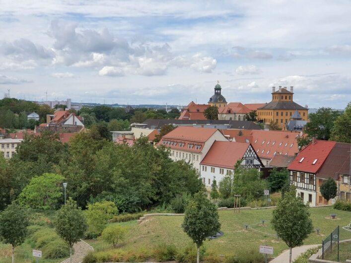 Blick auf Schloss Moritzburg in der Residenzstadt Zeitz