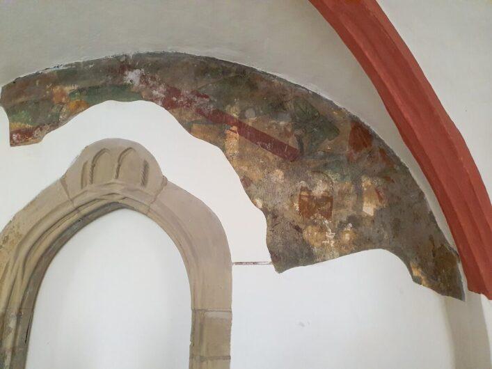 freigelegte Malereien im Frankziskanerkloster