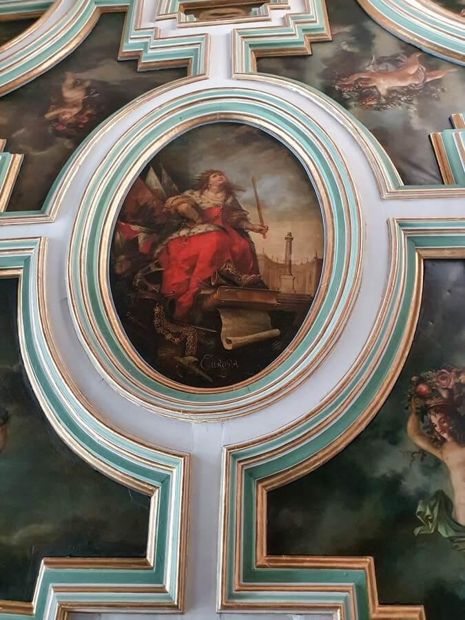 Deckenmalerei im Schloss Moritzburg