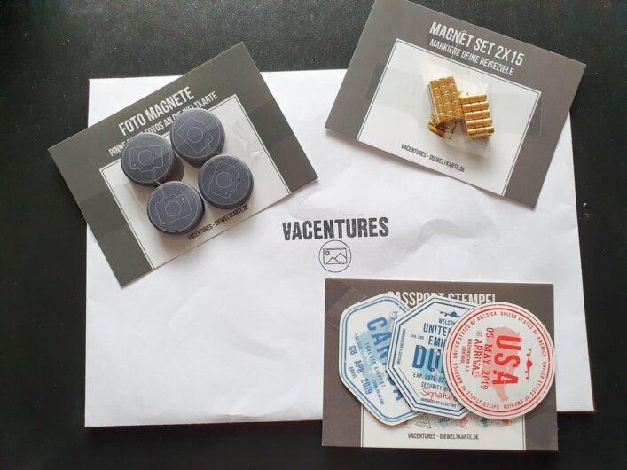 Foto-Magneten und Magnete in Form von Visastempeln