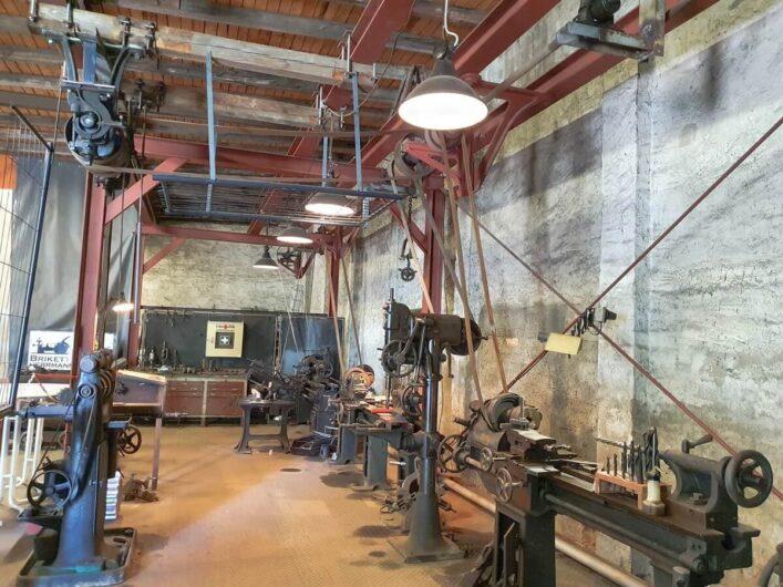 Maschinenhaus der Brikettfabrik Hermannschacht