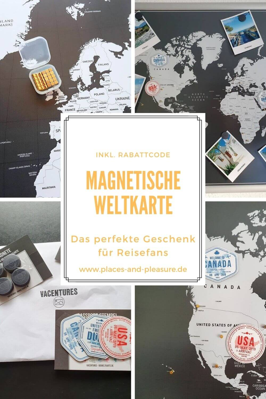 Werbung | Immer im Blick: Wunschreiseziele und Reiseerinnerungen, individuell gestaltet auf einer magnetischen Weltkarte. Hol dir den Rabattcode. #Geschenkidee #Reise #MagnetischeWeltkarte