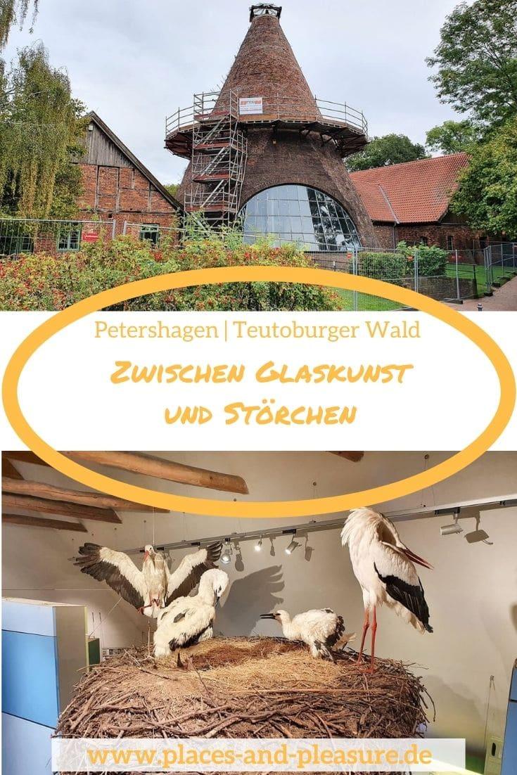 Werbung | Ob ein Besuch in der Glashütte Gernheim oder im Storchenmuseum – Petershagen im Teutoburger Wald ist einen Besuch wert. #Reisetipp #NRW #Störche #Glasbläserei #TeutoburgerWald