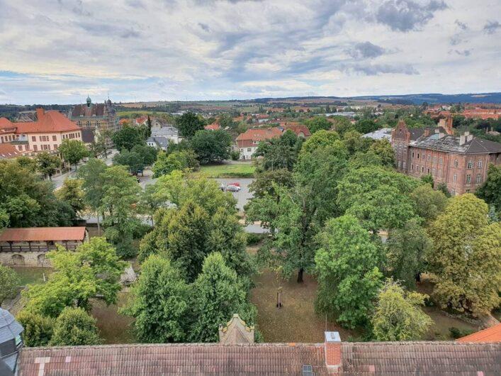 Blick von oben auf die Residenzstadt Zeitz