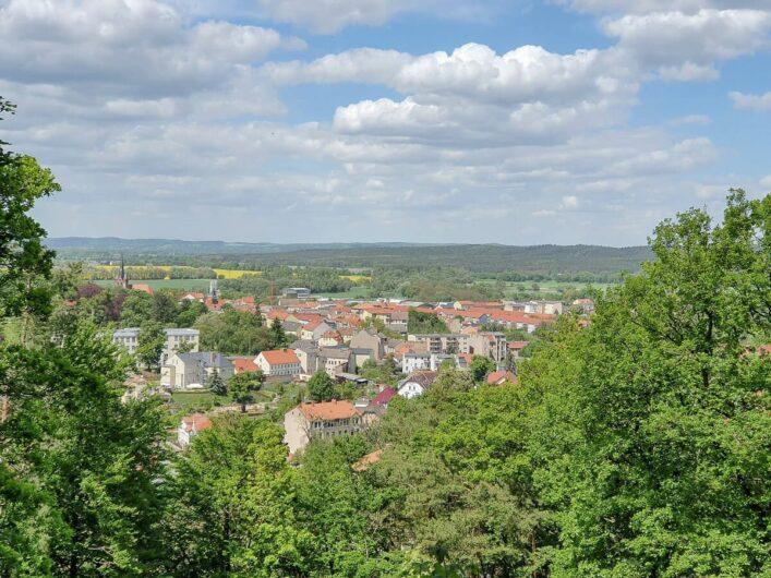 Ausblick vom Galgenberg auf Bad Freienwalde