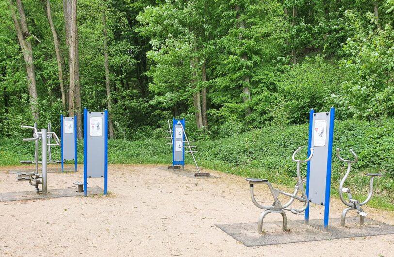 Trimm-Dich-Geräte im Kurbereich Bad Freienwalde