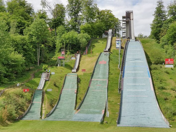 Skisprungschanzen im Papengrund Bad Freienwalde