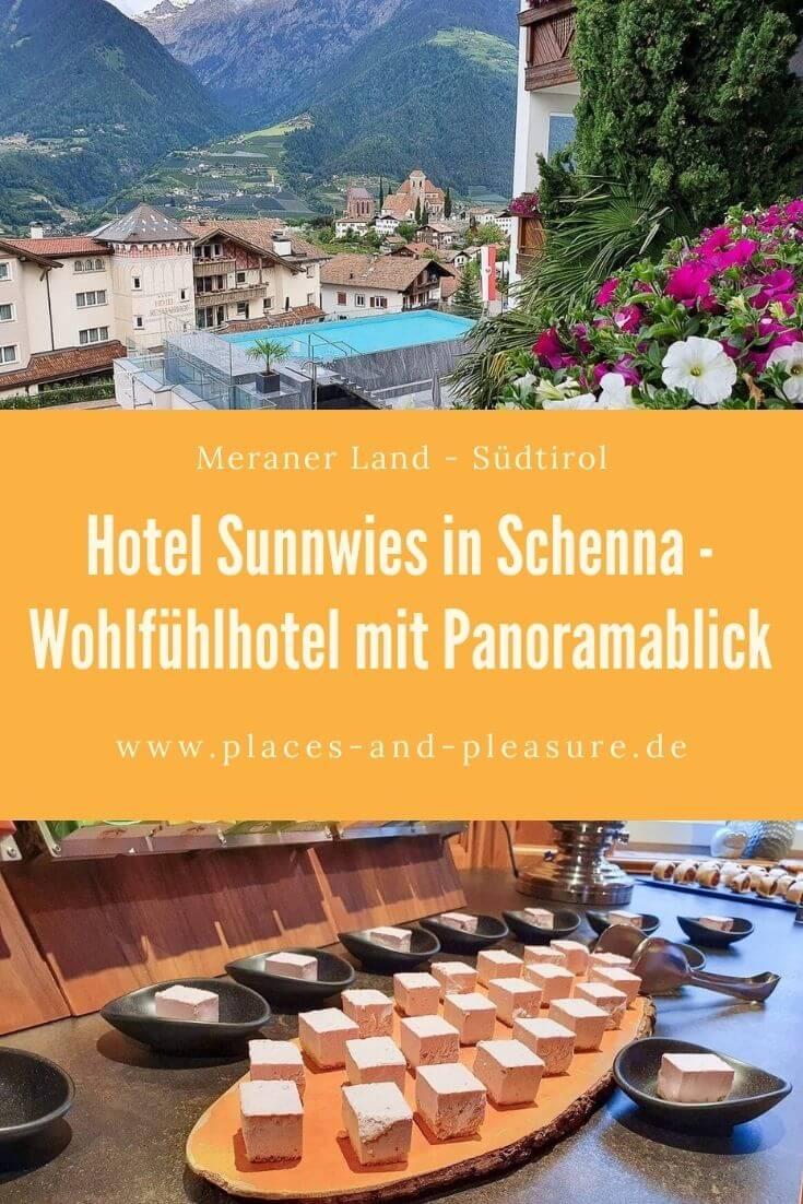 Das Hotel Sunnwies in Schenna: mein Hoteltipp im Meraner Land. Lies am Blog mehr über gemütliche Suiten, kulinarische Highlights und die Aktivitäten des Hauses.