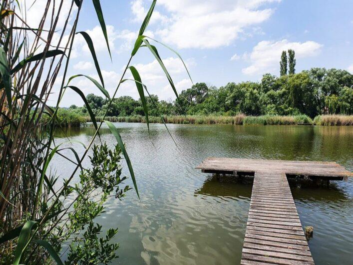 See mit Badesteg bei Sopron
