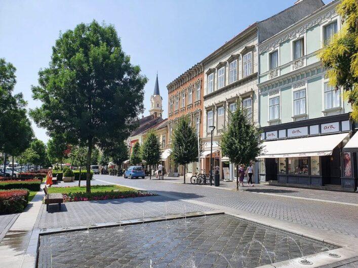 Springbrunnen im Zentrum von Sopron