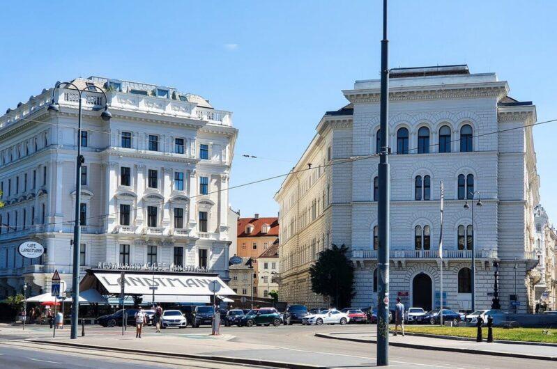 Blick auf das Café Landtmann in Wien