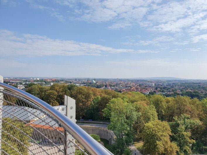 Ausblick auf Erfurt und das Umland