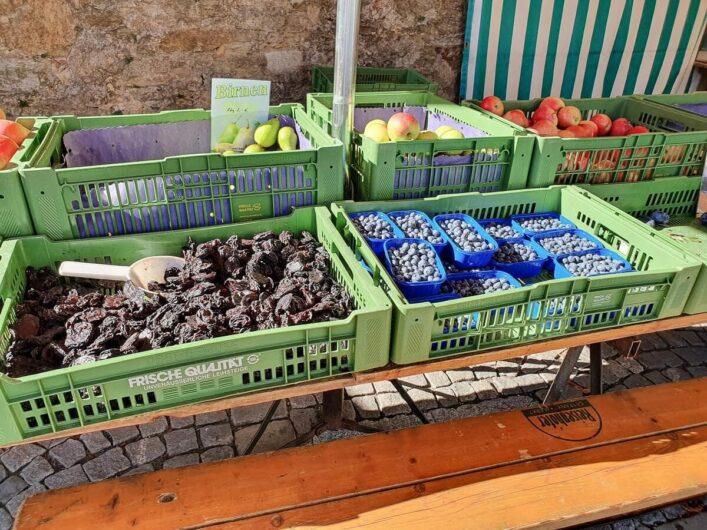 Obst auf dem Bauernmarkt von Hartberg